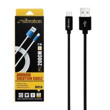 کابل تبدیل USB به Micro-USB سیبراتون مدل S321A با طول 2 متر